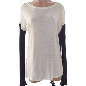 Sanctuary Long Sleeves Top Cream & Black